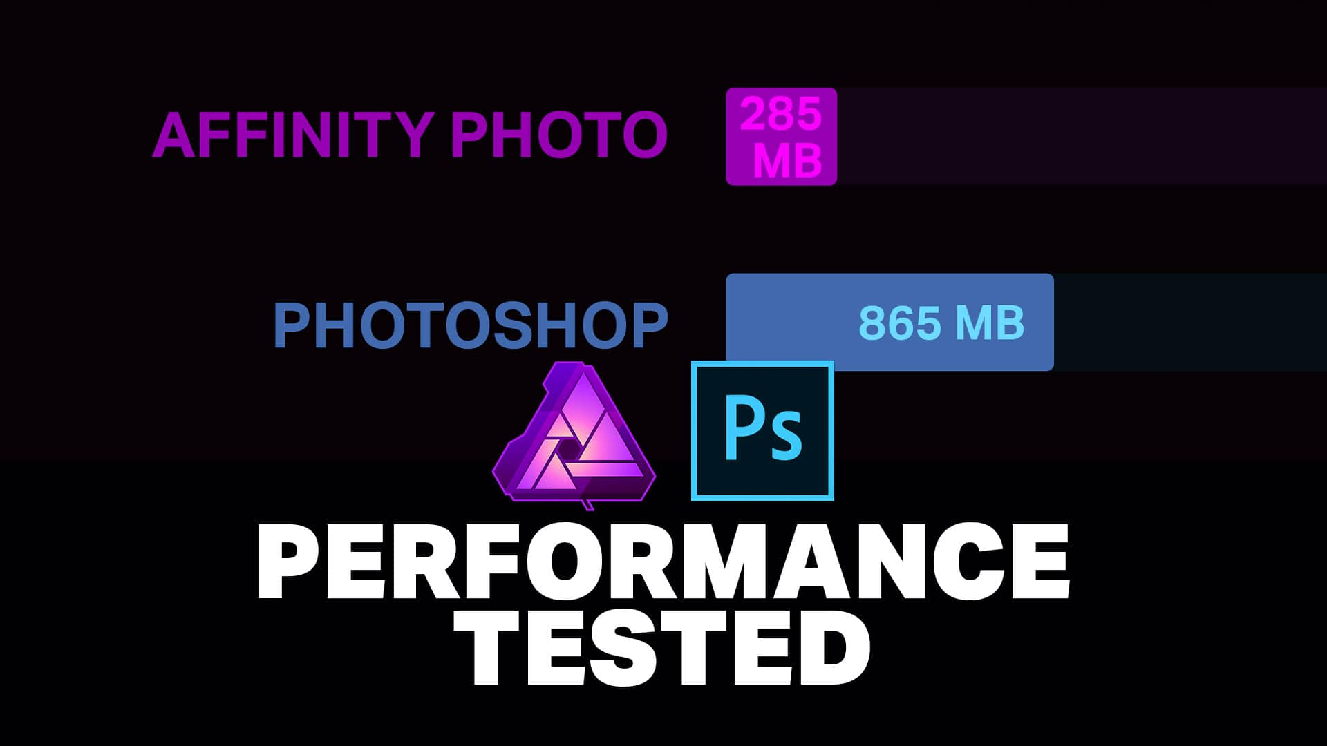 Affinity Photo vs Photoshop Benchmark